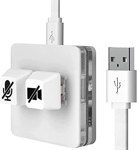 Linkidea USBズーム ミーティング ミュートボタン ビデオ起動/停止機能 マイクオーディオミュート/ミュート...