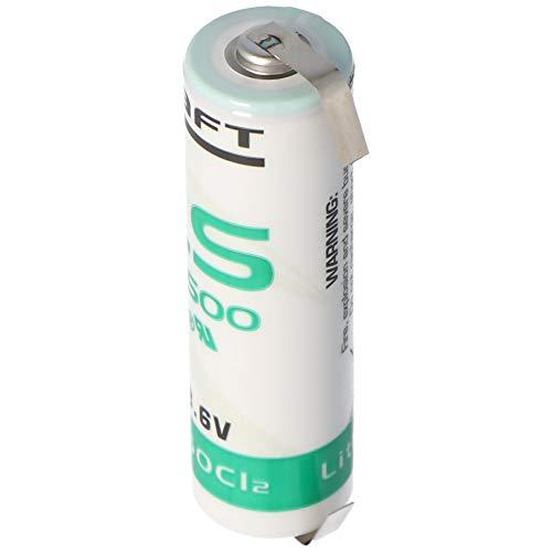 Saft LS14500 ER-AA Industriezelle Lithium-Thionylchlorid 3,6V mit Lötfahne
