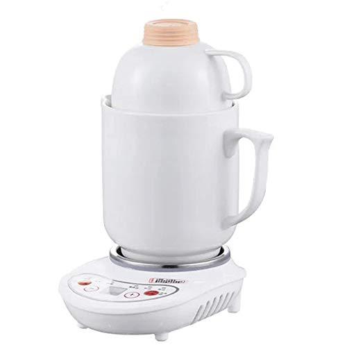 HXR health pot ceramics mini electric cooker slow cooker automatic multi-function mini soup pot suitable for office home use (0.95L,White pot)