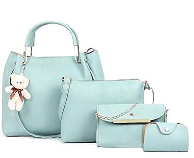 Fargo PU Leather Latest Handbags For Women's Ladies Combo Of 4 (Mint Green_Teddy4_FGO-251)