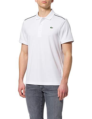 Lacoste DH2094 Camisa de polo, Blanc/Noir, M para...