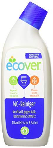 Ecover WC Reiniger Atlantikfrische & Salbei (6x750 ml), Toilettenreiniger mit pflanzenbasierten Inhaltsstoffen, kraftvoller Reiniger und Urinsteinentferner mit Zitronensäure, 6 Stk.