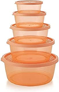 Nakoda sapphire food container Microwave Safe 5 Pcs Storage Container Set طقم حاويات ناكودا
