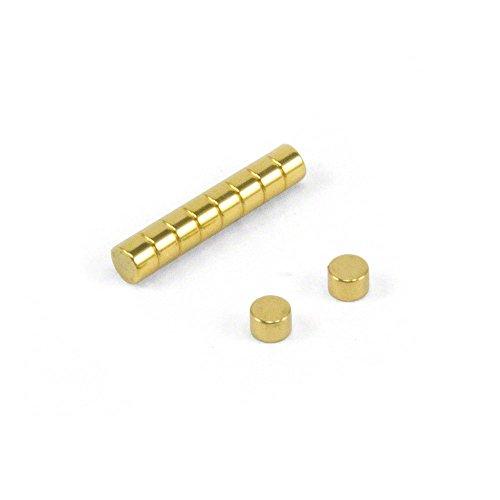 """first4magnetsâ""""¢ 3mm Durchmesser x 2mm dicken N42 Neodym-Magneten-Gold Plated (Packung mit 10), Metall, Silver, 25 x 10 x 3 cm, Einheiten"""
