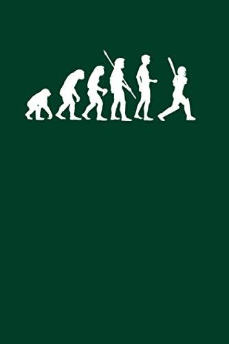 Kricket: Evolution Cricketspieler: Notizbuch / Notizheft für Cricket Bat Kricket Set A5 (6x9in) liniert mit Linien