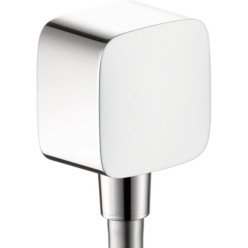 hansgrohe 1/2-inch Thread Connection Upgrade 3-inch Avantgarde Wall Outlet in Chrome, 27414001