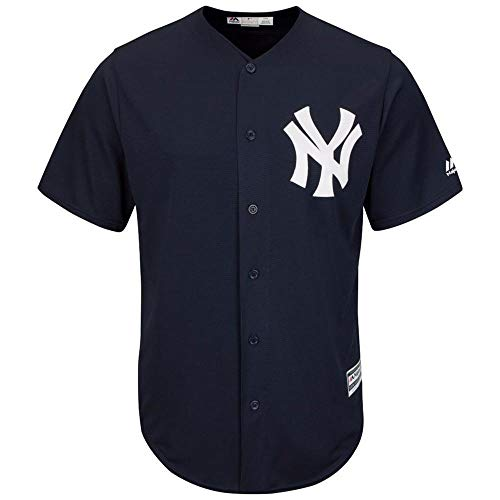 Majestic MLB Baseball Trikot Jersey New York Yankees NY Cool Base navy (X-LARGE)