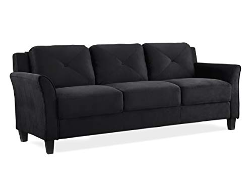 Lifestyle Solutions Collection Grayson Micro-fabric SOFA, 80.3'x32'x32.68', Black
