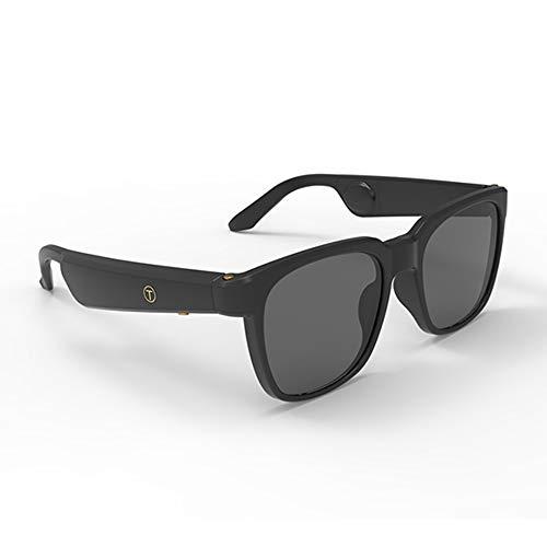 Lechnical G3 Bone Conduction Kopfhörer Brille Smart Sonnenbrille Wireless Bluetooth 5.0 Kopfhörer Musik Sonnenbrille Sport Headset Touch Control mit Mikrofon Aufbewahrungsbox