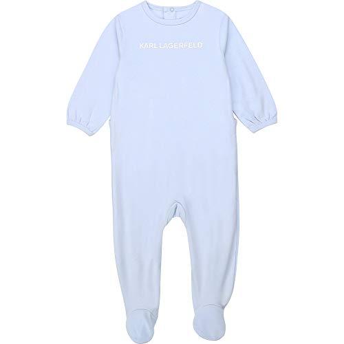 Pijama de algodón con logotipo de KARL LAGERFELD KIDS BEBE azul azul cielo Talla:6 meses