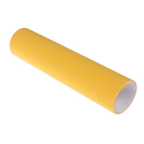 HYSJLS 2 unids Scooter Especial Papel de Lija Autoadhesivo Color Line de Arena Accesorios Antideslizante Arena paño Pegatinas patinera Griptape Long Tablero Line Autoadhesivas (Color : Yellow)