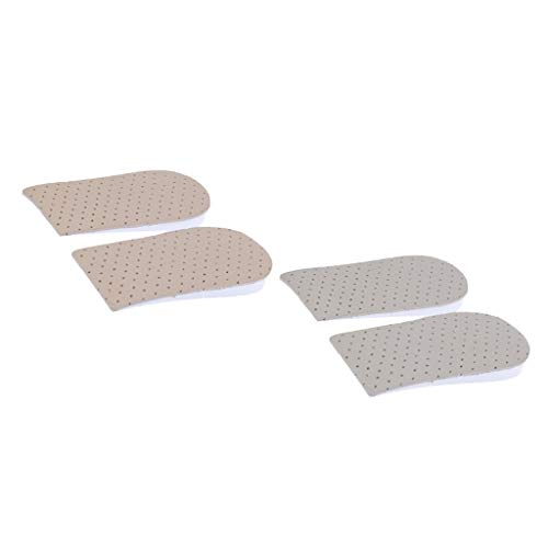 Generic 2 Pares de Inserções de Calcanhar de Meio Comprimento para Aumentar a Altura Inserções de Sapatos de 1,5 Cm / 2 Cm