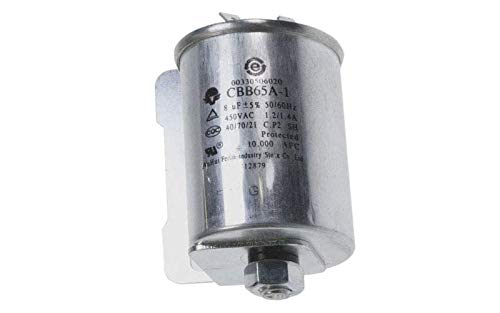 Kondensator 8 MF CBB65A-1 450 V für Wäschetrockner Haier – 00330506020