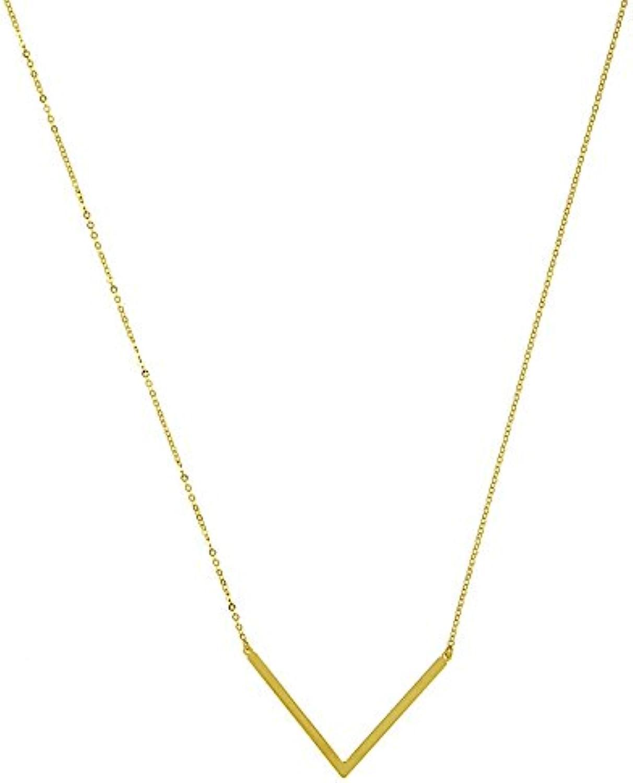 14ct Gelb Gold V links Hummer Halskette–46cm