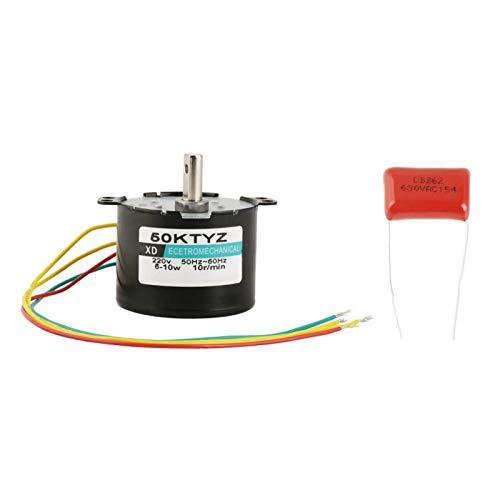 Motorreductor, Motor síncrono AC220V 5-50RPM Engranajes de metal completo Rotor de núcleo de cobre para control de automatización Varias válvulas(10 turns)