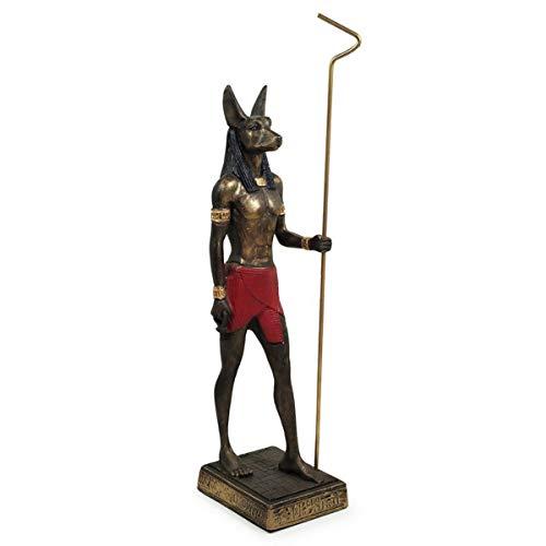 Anúbis Deus do Egito em Resina Dourado