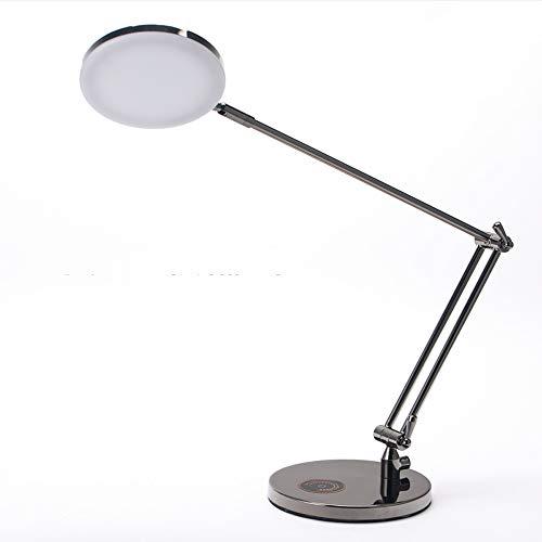 YX Shop® Moderno Escritorio Minimalista Brazo Largo Plegable Metal LED Protección para...