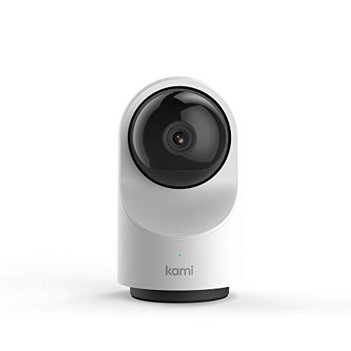 smart cameras Kami Home Security Camera System 1080P HD Indoor Smart Cam, Motion-Activated with 2.4G/5G Dual-Band Wi-Fi, 1 Year Free Cloud Storage, Kami/YI Home APP - Compatible with Alexa and Google Assistant