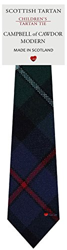 I Luv Ltd Garçon Tout Cravate en Laine Tissé et Fabriqué en Ecosse à Campbell of Cawdor Modern Tartan