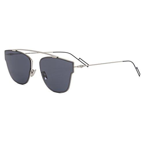 Dior Herren Dior0204S 72 010 57 Sonnenbrille, Silber (Palladium/Blute)