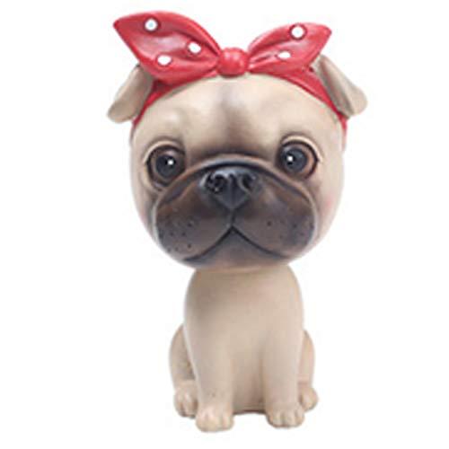 Gcroet 1PC Juguete Lindo en Coche Mover la Cabeza de Perro Afortunado Meneo de Jefes de Coches Dash Perrito para Coches Decoración Vehículo Multipropósito decoración de la Oficina Decor (Bago Tipo)