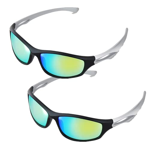 iPower Indoor Hydroponics LED Grow Room Light Glasses Goggles Anti UV Reflection Visual Optical Protection, 2-Pack, Green