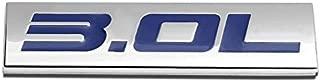UrMarketOutlet 3.0L Blue/Chrome Aluminum Alloy Auto Trunk Door Fender Bumper Badge Decal Emblem Adhesive Tape Sticker