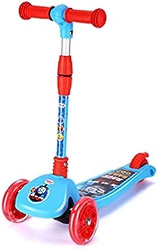 SSLHDDL Kinder-Tretroller 3-Rad-Roller Einstellbare H  Und Flash-Rad, Baby Baby Roller, Kinder Geburtstagsgeschenk Junge mädchen 3 Bis 12 Jahre Alt
