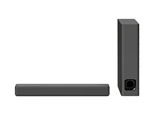 Sony HT-MT300/B Powerful Mini Soundbar with Wireless Subwoofer, easy setup, compact, home office use with clear sound, Black