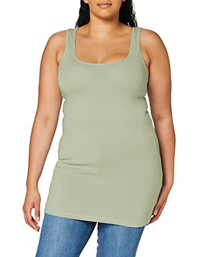 Vero Moda VMMAXI MY Soft Long Tank Top GA Noos Camiseta sin Mangas, Desert Sage, S para Mujer