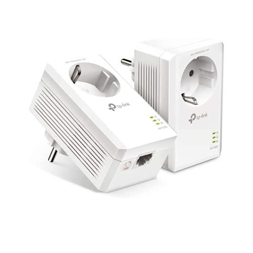 TP-Link TL-PA7017P Kit AV1000 Gigabit Powerline Starter Kit, Sin WiFi, 1 Gigabit Puerto, Super Ahorro de Energía