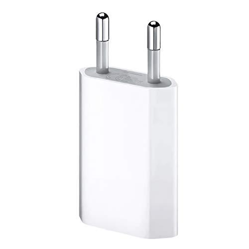 ultrapower100® Ladegerät für iPhone 1A 5W 1400 für iPhone 5 5C 5S 6 SE 6S 7 8 X XS XR XS Max USB Netzteil Hauptstecker