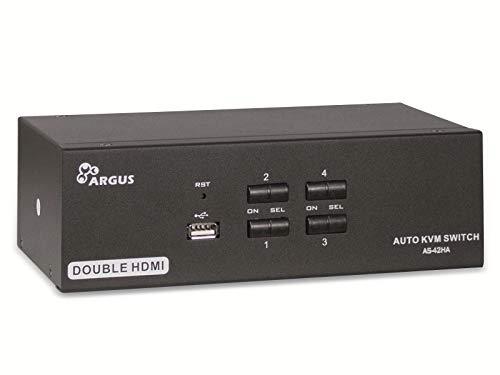 Preisvergleich Produktbild Inter-Tech IPC KVM Switch AS-42HA HDMI,  Metall