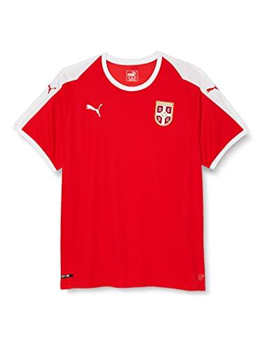PUMA Herren Serbia Home Shirt SS Replica Trikot, Red White, XXL