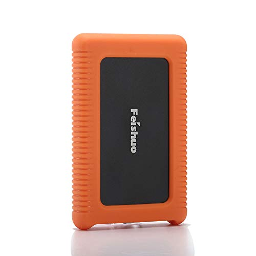 Portable External Hard Drive USB3.0 SATA HDD Storage — External Hard Drive Silicone Case Anti-Drop, Shockproof and Rainproof, for PC, Mac(120G, Black)