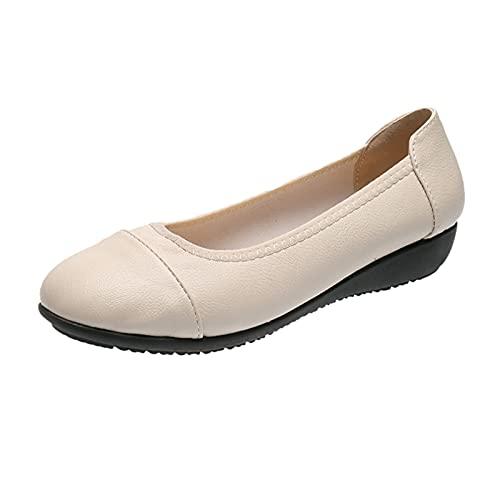 URIBAKY Femmes Chaussures à Talons Moyens à la Mode Chaussures décontractées Confortables à Semelle Souple, Baskets Coussin d'air Chaussure de Sport Sneakers Running Respirantes Athlétique Courtes
