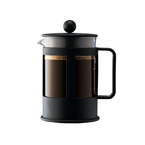 Bodum 1784-01 KENYA Kaffeebereiter (French Pressesystem, Spülmaschinengeeignet), 0,5 L, schwarz