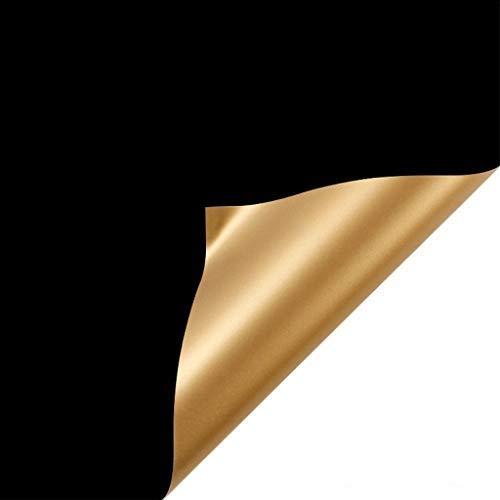 qiuxiaoaa 20 Blatt 23,6 x 23,6 Zoll zweifarbiges doppelseitiges goldenes Blumen-Geschenkpapier Zweifarbiges Geschenkpapier