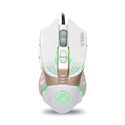 A FANG Spielmäusegriff Ergonomische Beleuchtungsmaus Standard Hochpräzise Verkabelte RGB-Hintergrundbeleuchtung DPI Einstellbare Hintergrundbeleuchtung Mechanische E-Sports Gaming-Maus,B