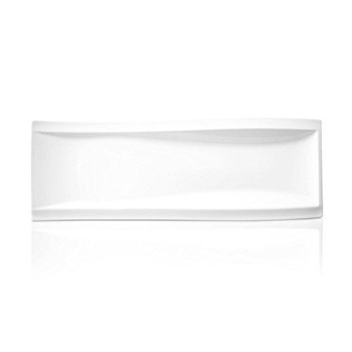 Villeroy & Boch NewWave Antipastiteller, 42 x 15 cm, Premium Porzellan, Weiß