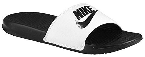 Nike Benassi Jdi Chanclas para hombre, Color blanco y negro., 13