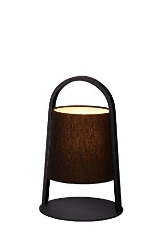 Lucide DIXI - Lampe De Table - Ø 20 cm - Noir