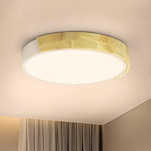 LED Lámpara de Techo Moderna Plafón Techo Led Redondo Para Techo y Pared 24W 2400LM 3000K Para Habitacion Cocina Sala de Estar Dormitorio Pasillo Comedor Balcón etc.