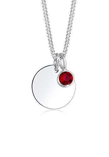 Elli Halskette Geburtsstein Farbe Swarovski® Kristalle 925 Silber