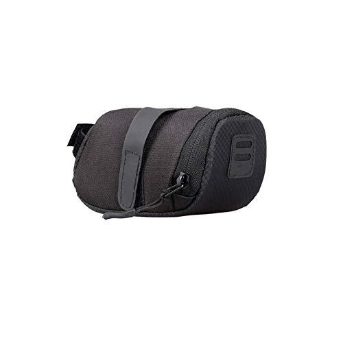 Práctica bolsa de almacenamiento impermeable para bicicleta, bolsa para sillín de bicicleta, bolsa de sillín de equitación, bolsa para la parte trasera del sillín accesorios portátil (color: negro)