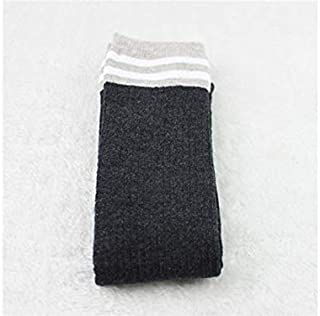 Lovely Socks Children Cotton Socks Kids Winter Stripe Patterns Terry Mid Tube Stocking(Turmeric) Newborn Sock (Color : Grey)
