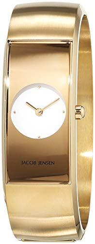 JACOB JENSEN Reloj Analógico para Mujer de Cuarzo con Correa en Acero Inoxidable JJ472