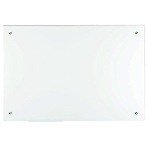 Lockways Glas-Magnettafel Premium Reinweiß - praktische Whiteboard 60 x 90 cm, Rahmenlos für Schule, Wohnung und Büro