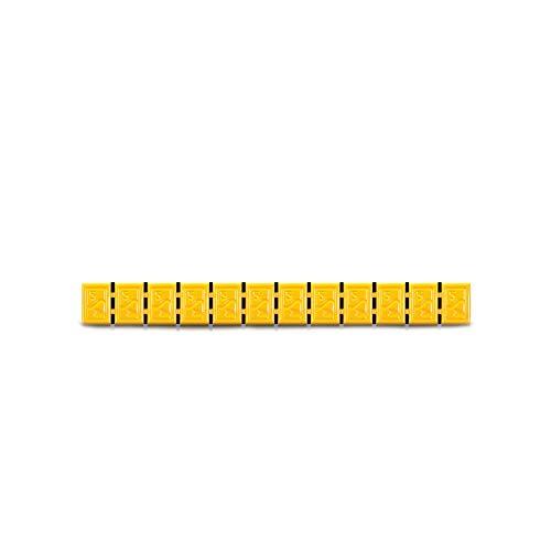 6x Wuchtgewichte Klebegewichte gelb Typ380 60g Hofmann Power Weight, Bunte Klebegewichte für Alufelgen, Leichtmetallfelgen, Auswuchtgewichte gelb