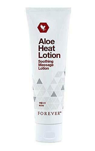 Forever Loción de aloe Heat relajante para músculos estresados, crema de masaje